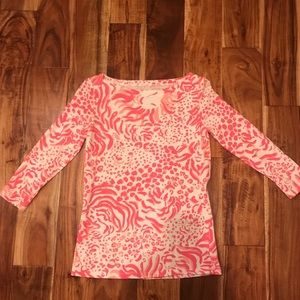 Lilly Pulitzer Cotton 3/4 sleeve too